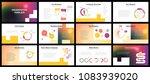 business presentation templates.... | Shutterstock .eps vector #1083939020