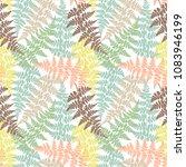 fern frond herbs  tropical... | Shutterstock .eps vector #1083946199