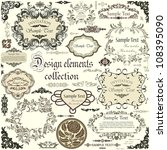 vector set of calligraphic... | Shutterstock .eps vector #108395090