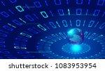 three dimensional digital earth ...   Shutterstock .eps vector #1083953954