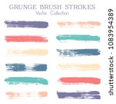 watercolor  ink or paint brush... | Shutterstock .eps vector #1083954389