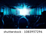 silhouette of people sitting in ...   Shutterstock . vector #1083957296