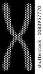dot white chromosome icon on a... | Shutterstock .eps vector #1083957770