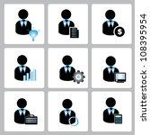 vector set of human profile ... | Shutterstock .eps vector #108395954