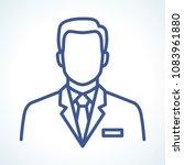 doctor vector line icon | Shutterstock .eps vector #1083961880