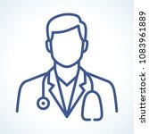 doctor vector line icon | Shutterstock .eps vector #1083961889