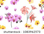 seamless botanical print with... | Shutterstock .eps vector #1083962573