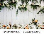wedding candy bar    Shutterstock . vector #1083963293