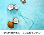 coconut water or other healthy...   Shutterstock . vector #1083966440
