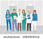 doctors and assistant in a... | Shutterstock .eps vector #1083969416