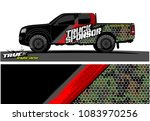 pickup truck livery graphic... | Shutterstock .eps vector #1083970256