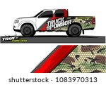 pickup truck livery graphic... | Shutterstock .eps vector #1083970313