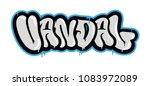 "decorative inscription ""vandal"" ... | Shutterstock .eps vector #1083972089"
