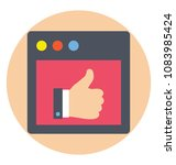 thumbs up. flat icon of... | Shutterstock .eps vector #1083985424
