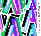 seamless urban funky geometric ...   Shutterstock .eps vector #1083996416