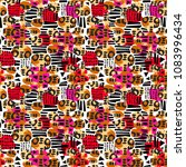 urban seamless funky collage... | Shutterstock .eps vector #1083996434