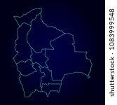 bolivia region map detailed map ...   Shutterstock .eps vector #1083999548