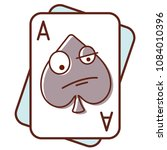 ace of spades. poker face.... | Shutterstock .eps vector #1084010396