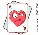 ace of hearts. poker face.... | Shutterstock .eps vector #1084010546
