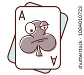 ace of clubs. poker face.... | Shutterstock .eps vector #1084010723