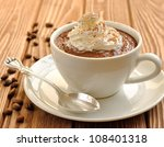 Chocolate Dessert With Whippe...