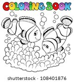 coloring book two cute clown... | Shutterstock .eps vector #108401876