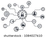 gdpr concept  general data... | Shutterstock .eps vector #1084027610