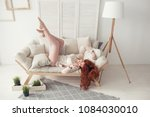 waking up in the morning is... | Shutterstock . vector #1084030010