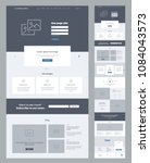 one page website design... | Shutterstock .eps vector #1084043573
