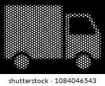 pixel white shipment van icon...   Shutterstock .eps vector #1084046543