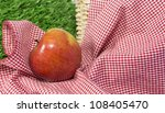 red apple leaning to left on a... | Shutterstock . vector #108405470