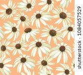 Chamomile Flowers. Seamless...