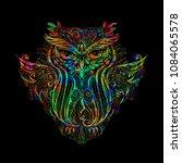 hand drawn ornate spiritual... | Shutterstock .eps vector #1084065578