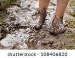 Feet In Mud Close Up