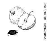 apple vector drawing. hand... | Shutterstock .eps vector #1084073450