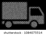 pixel white delivery lorry icon ...   Shutterstock .eps vector #1084075514