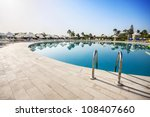swimming pool of luxury hotel ... | Shutterstock . vector #108407660