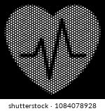 dot white cardiology icon on a... | Shutterstock .eps vector #1084078928