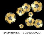 background with soccer balls.... | Shutterstock .eps vector #1084080920