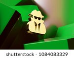 golden user secret icon with...