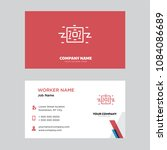robot business card design... | Shutterstock .eps vector #1084086689