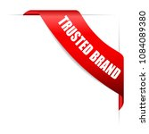 trusted brand red vector ribbon ... | Shutterstock .eps vector #1084089380