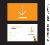 down arrow business card design ...
