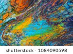 colorful and abstract acrylic...   Shutterstock . vector #1084090598