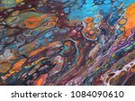 colorful and abstract acrylic...   Shutterstock . vector #1084090610