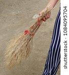 hand made broom  grass and...   Shutterstock . vector #1084095704