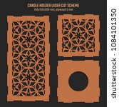 diy laser cutting vector scheme ... | Shutterstock .eps vector #1084101350