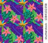 summer tropical seamless... | Shutterstock .eps vector #1084102358