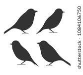 bird icon set  black isolated... | Shutterstock .eps vector #1084106750