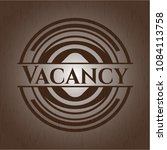 vacancy vintage wood emblem | Shutterstock .eps vector #1084113758